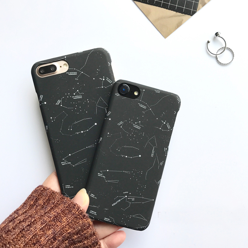 Fashion Stars Sky Case For iphone 7 Case Lovely Cartoon Constellation Back Cover Hard Phone Cases For iphone 6 6S 7 Plus 5 5S SE