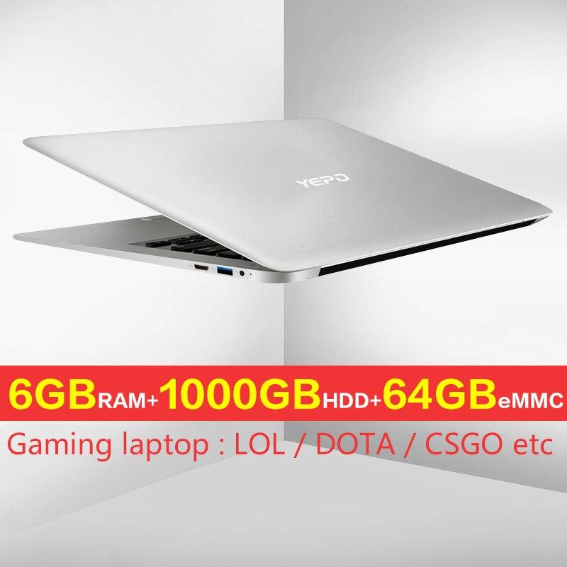 YEPO laptop 15.6 inch 1000GB CAPACITY Ultrabook Intel Apollo Version Celeron laptops 1000G HDD quad core N3450 a laptop