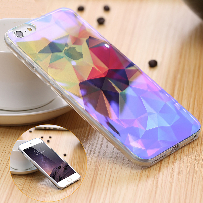 FLOVEME Für iPhone 6S 6 7 8 X Hülle Kunstdruck Blue Ray Hüllen Für iPhone 6 Plus 6S Plus Handyhülle Für iPhone 7 Plus 8 Plus Cover