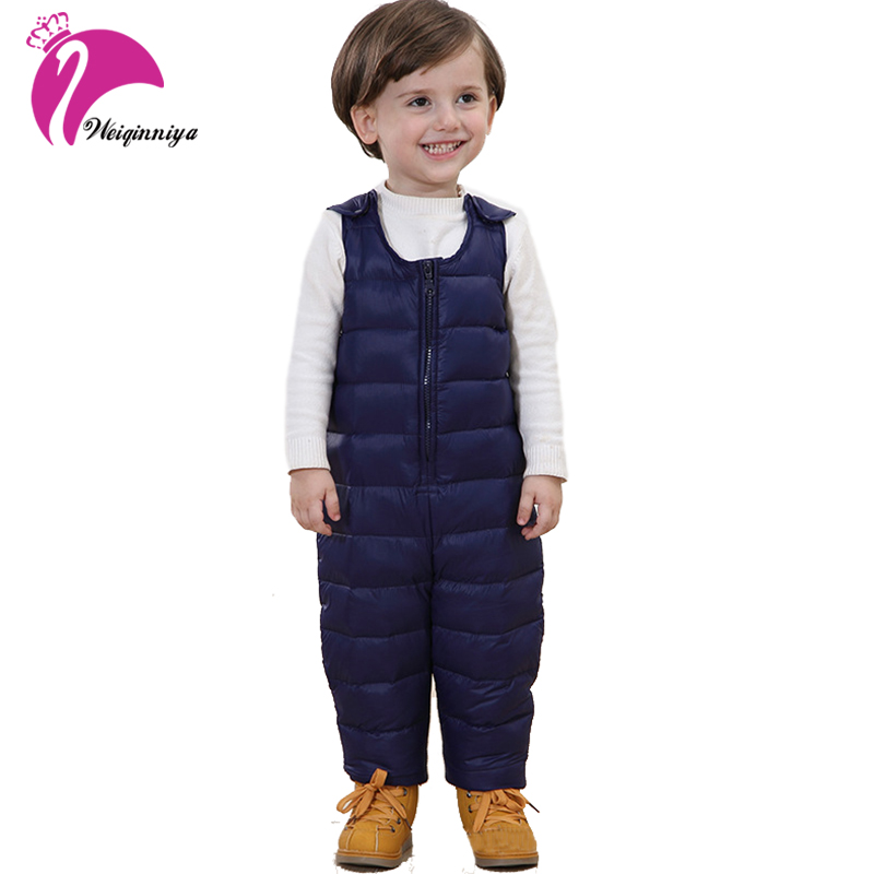 Winter New Baby Boys Girls White Duck Down Rompers Newborn Snowsuit Infant Warm Coat Overalls Children Windproof Cotton Clothing 2016 winter boys ski suit set children s snowsuit for baby girl snow overalls ntural fur down jackets trousers clothing sets