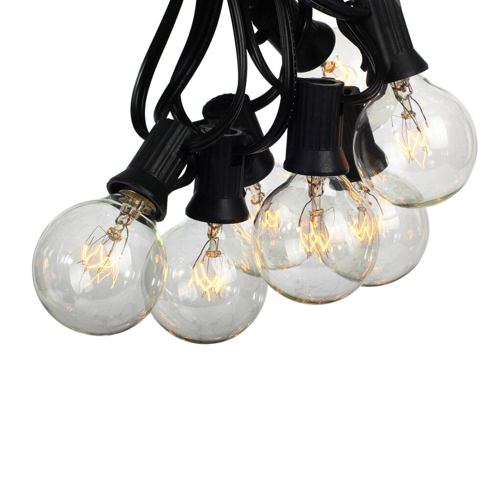 25 lâmpadas claras, 25ft ul alistado para