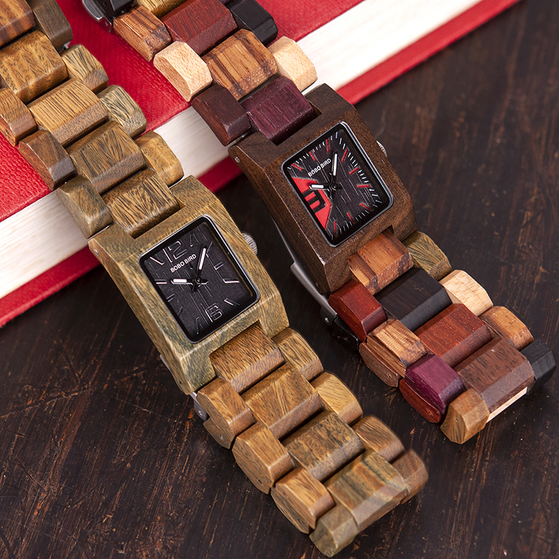25mm BOBO BIRD Small Women Watches Wooden Quartz Watch Timepieces Best Girlfriend Gifts Relogio Feminino in wood Box W-S02