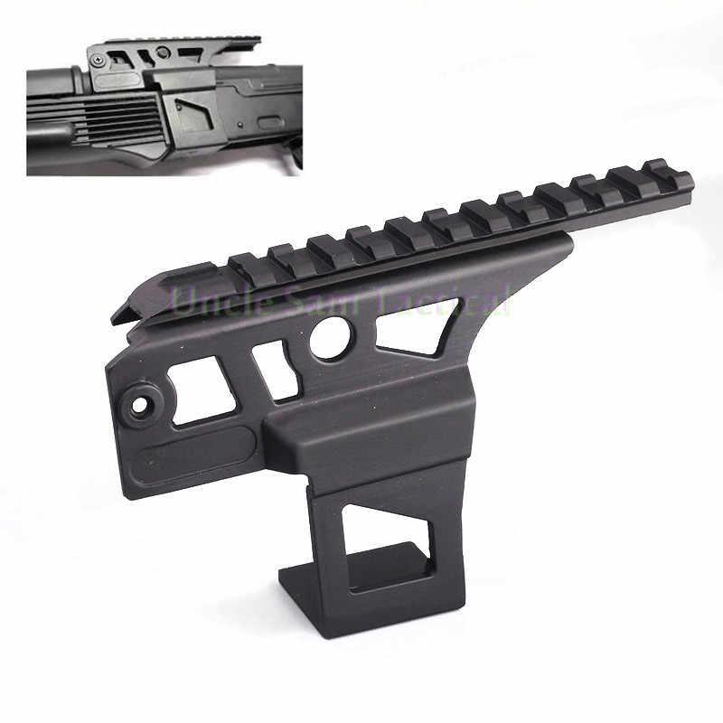 AK 74 Schiene Seite Front Top Scope Taschenlampe Laser Dot Anblick Montieren Empfänger Weaver Für Schießen Jagd