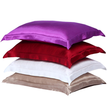 Black Satin Pillow Cases/Cover Bedding Double Face Charmeuse 100% Natural Pure Silk Pillowcase King Sleep White/Pink 48X74cm