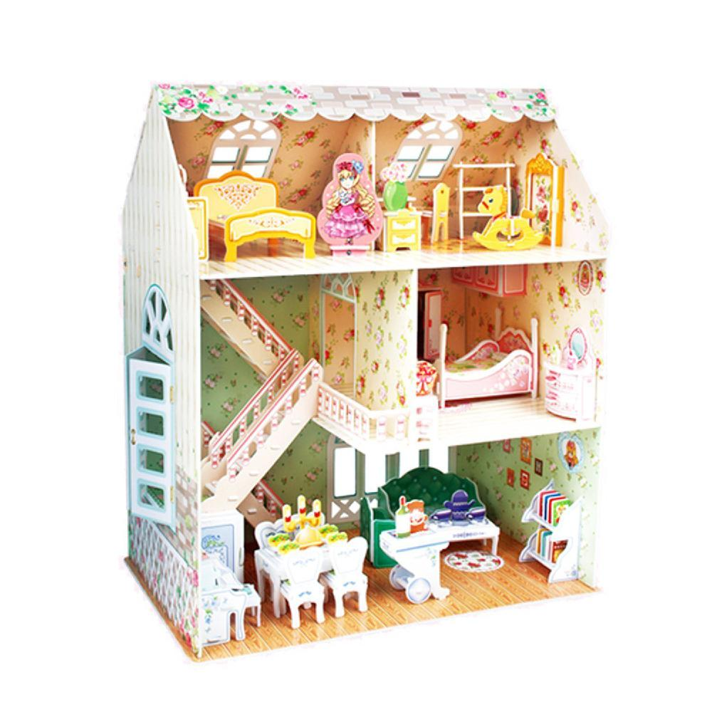 RCtown P645H Dreamy Dollhouse Miniature Model 160pcs 31.5cm Educational Toy Girl 3D Puzzle HWD30 swarovski dreamy 5200032