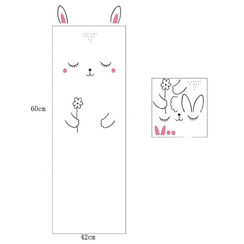 Sleepy Bunny Cat Wall Sticker For Baby Girl Bedroom Door Wardrobe Cute Decor-HO3