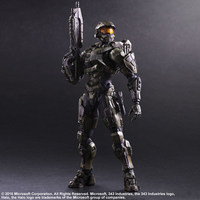 Elsadou 26cm Play Arts PA Halo Master Chief Action Figure Toy Doll Collection