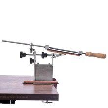 Apontador de faca cozinha profissional sistema de afiação ferramentas fix ângulo com 3 pedras de amolar