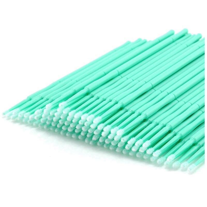 100 Pcs Disposable Swab Applicator Micro Brush Eyelashes Extension Mascara Tools