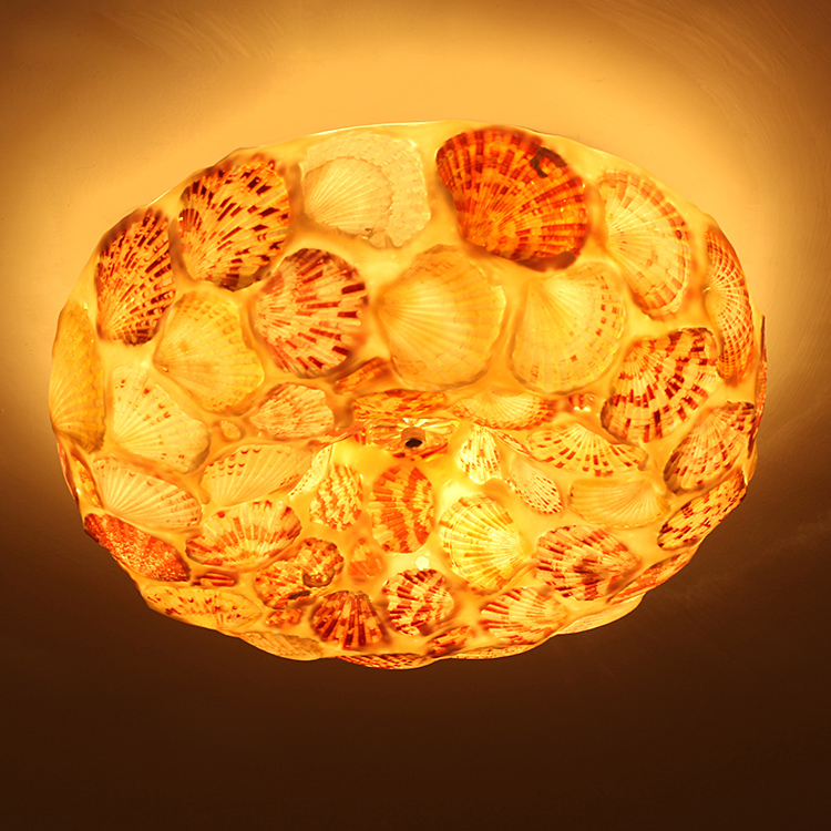 ФОТО Fashion bedroom shell Ceiling light  rustic living room lights romantic balcony lamps