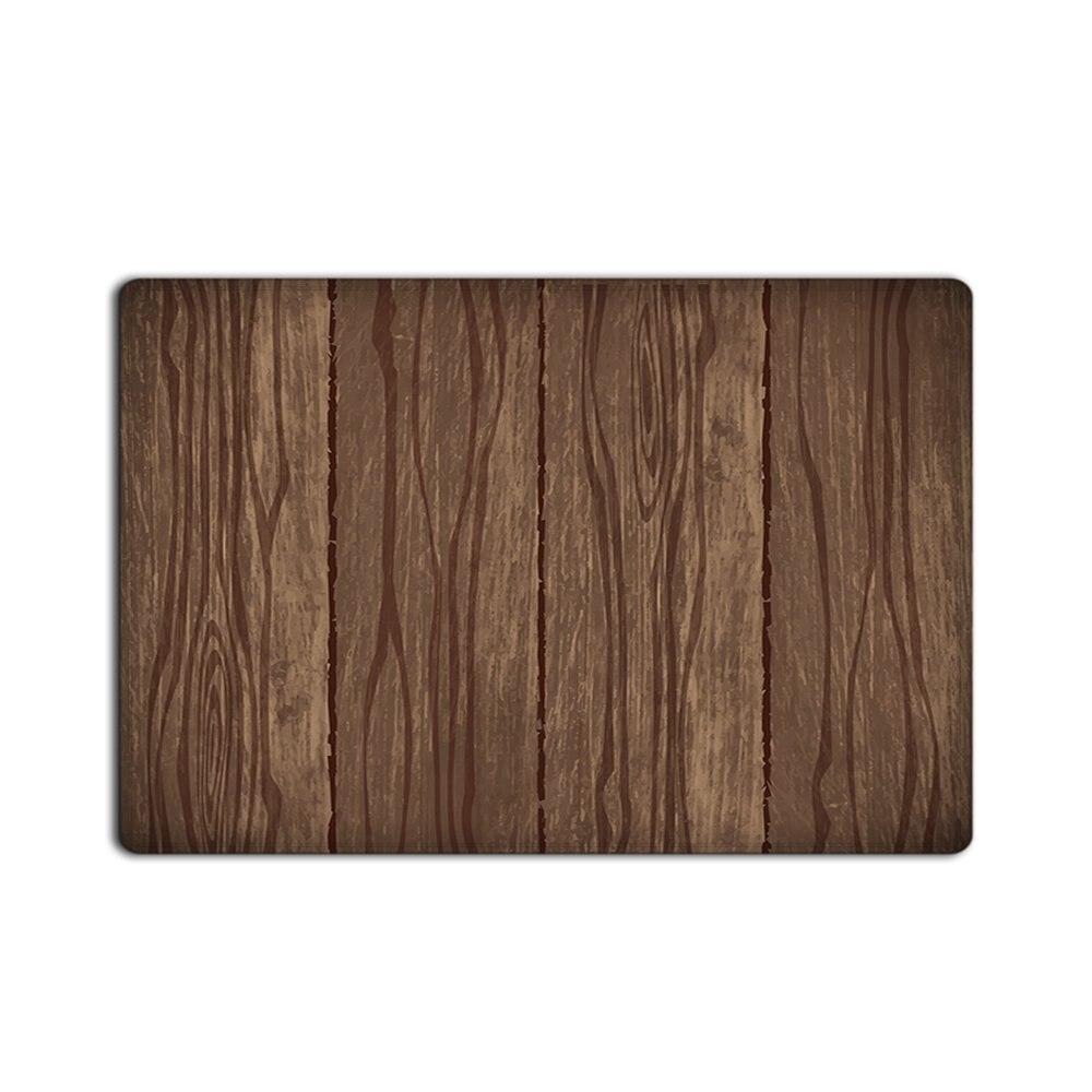 Customize Doormat Entrance Mat Floor Mat Rug Hand Painted Abstract Rustic  Old Wooden Indoor/Outdoor