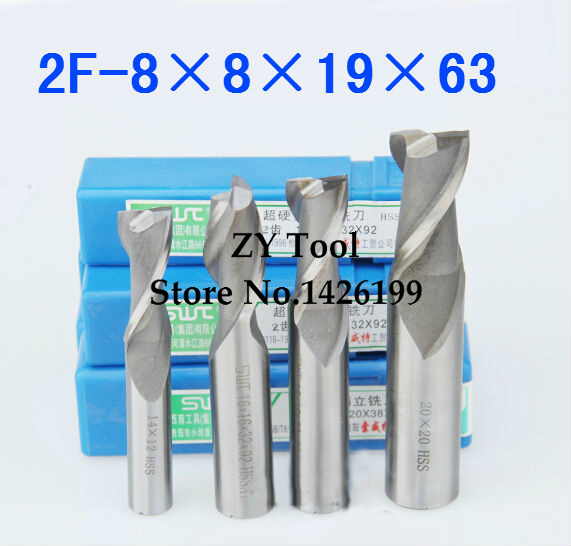 1Pcs 8.0mm Tungsten Carbide 3 Flute End Mill CNC Milling Cutter for Aluminum Use