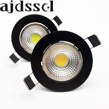 New arrivel LED Dimmable Led downlight lamp black COB 3w 5w 7w 12w Spot light 85-265V ceiling recessed Lights Indoor Lighting цена