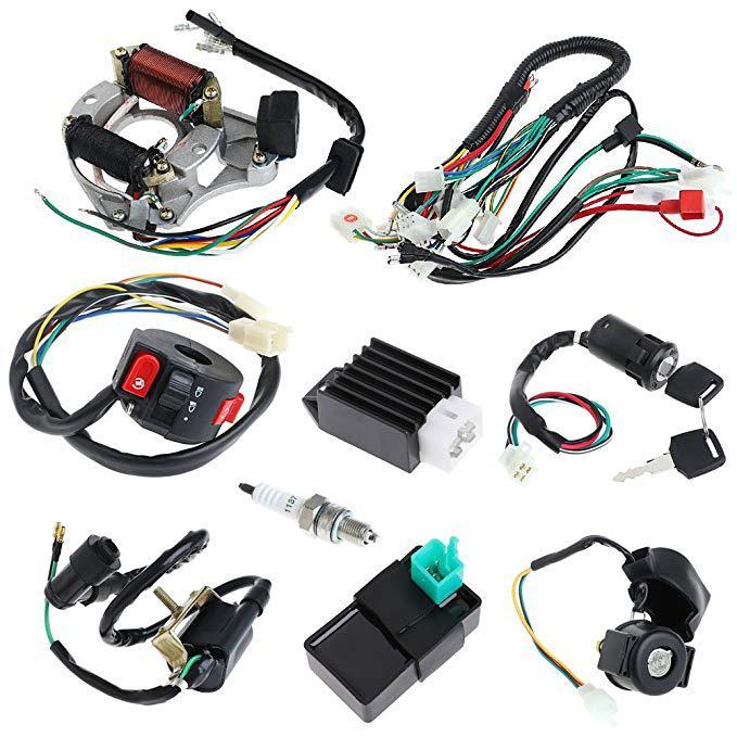 LumiParty pour 50 70 90 110CC ATV Quad Gokart complet électrique faisceau de câbles bobine CDI câblage Set Quad fil harnais bobine plomb r30