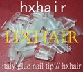 Freeshipping - 10000pcs Italy Glue Nail Tip / High Quality Glue Keratin / Transparent