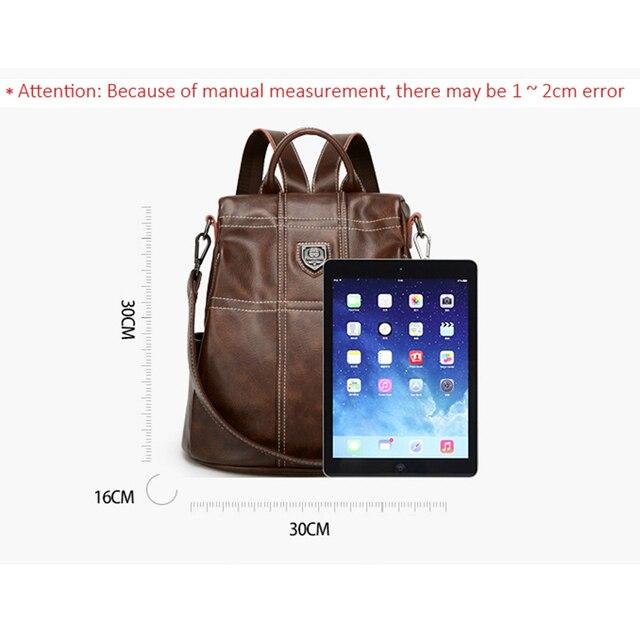 Plecak damski POMELOS Fashion Designer plecaki z zabezpieczeniem antykradzieżowym kobiety wysokiej jakości plecak damski ze skóry PU Travel Woman Bagpack