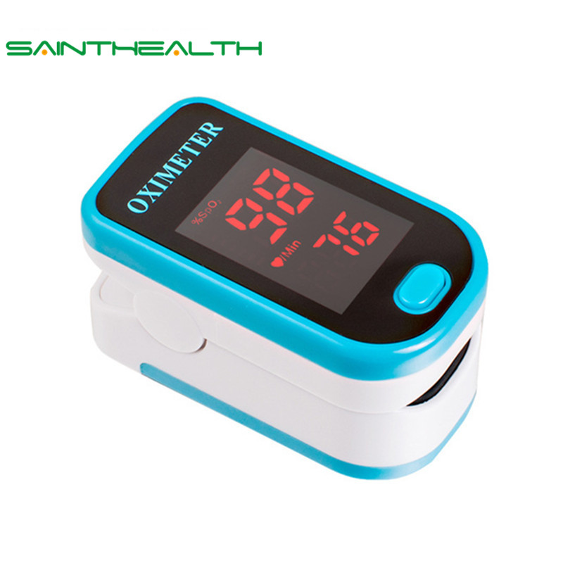SaintHealth Health Care LED Finger Pulse Oximeter Blood Oxygen SPO2 PR Oximetro de dedo digital Portable Oximeter a Finger
