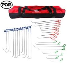 PDR Hooks Tools To Remove Dents Push Rod Car Dent Repair Door Dings Hail Repair Paintless