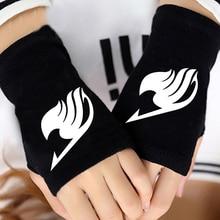 Fairy Tail Logo Printed Fingerless Cotton Gloves
