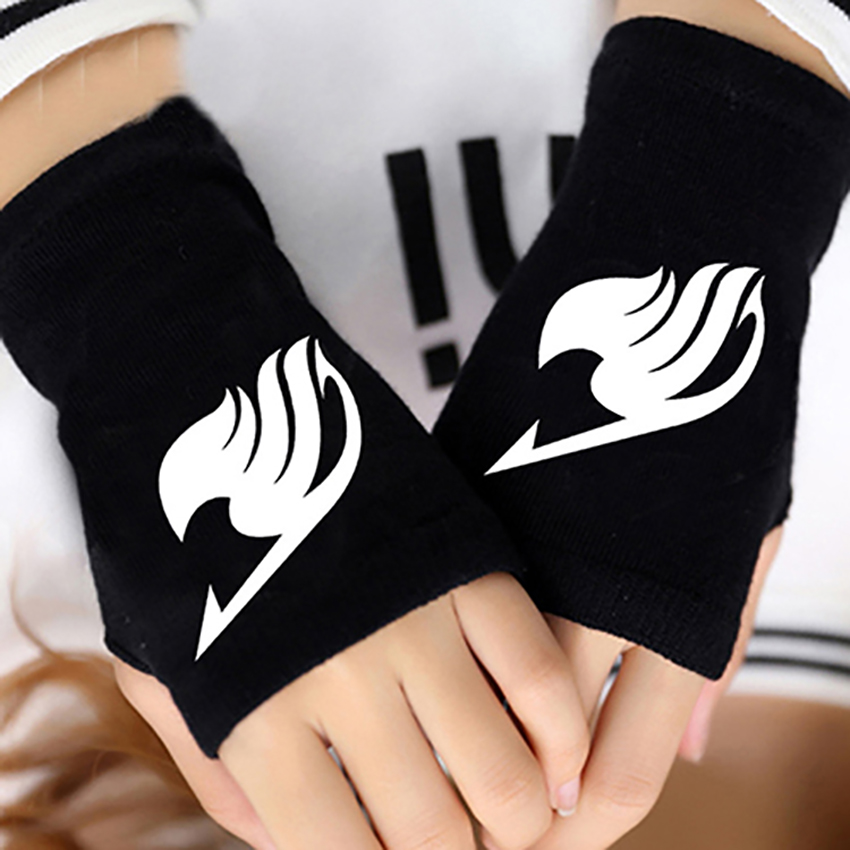 Hot Anime Fairy Tail Guilde Doigt Coton Tricot Poignet Gants Mitaine Amoureux Accessoires Cosplay Chaud Cospaly Mitaines Gants