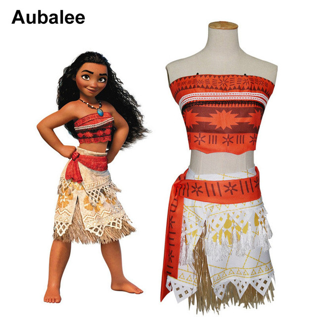kids beach summer moana costume dress girls adventure outfit moana princess dress children party halloween cosplay