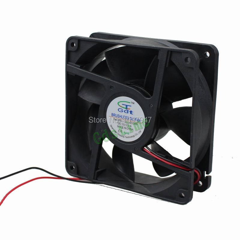 2Pieces LOT Gdstime DC 12V 2Pin 12038 120mm 120*120*38mm Computer Cooling Fan