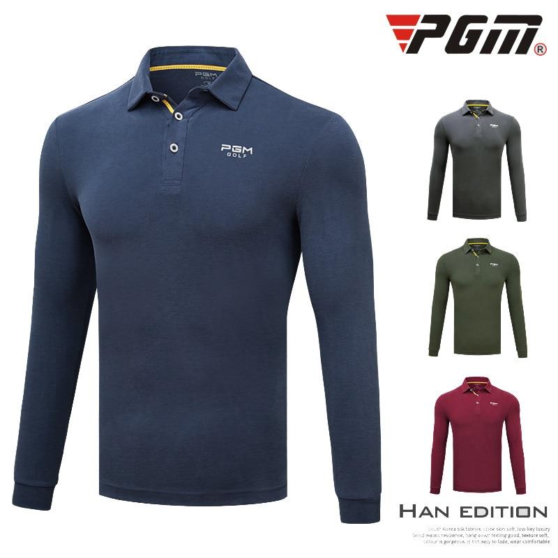 2018 nouveau costume de Golf hommes à manches longues T-shirt automne hiver respirant Anti-rides vêtements Modal vêtements taille M-XXL
