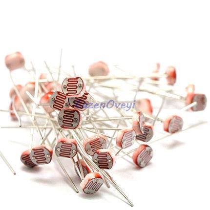 20pcs/lot 5528 Light Dependent Resistor Photoresistor Resistor 5mm Photosensitive Resistance 35511