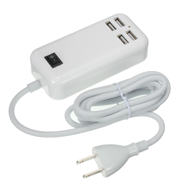 LEORY 4 Port Portable USB Hub Desktop Wall Charger Multi Port Rapid Adapter For iPhone For Moiblephone For Tablet PC Pad