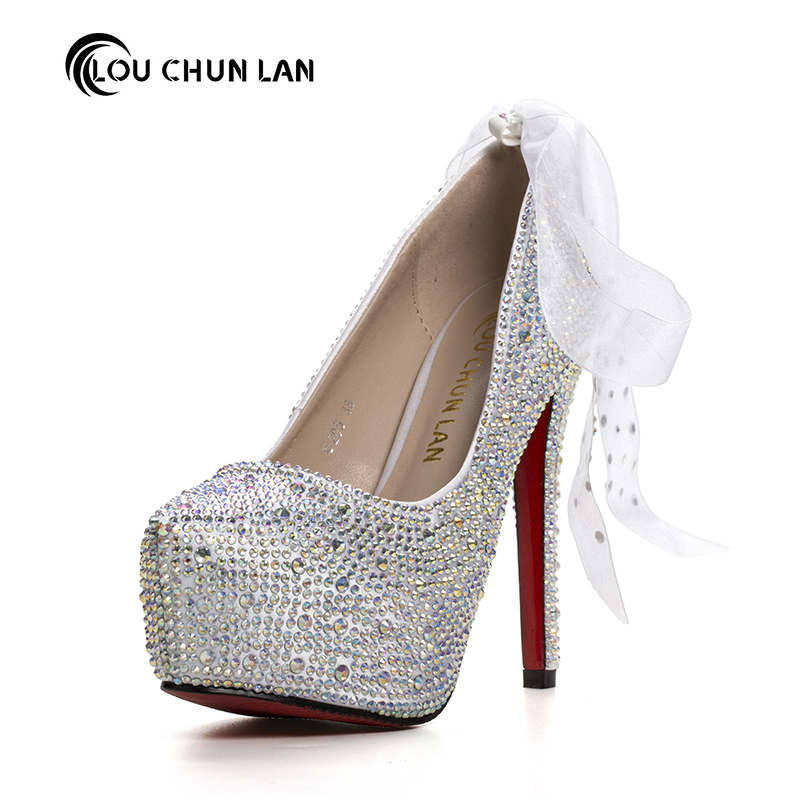 Women's Pumps fashion Crystal Wedding Shoes Ultra High Heels Shoes Bridal Shoes Round Toe Shoes spring autumn  Free Shipping siketu 2017 free shipping spring and autumn women shoes fashion sex high heels shoes red wedding shoes pumps g107