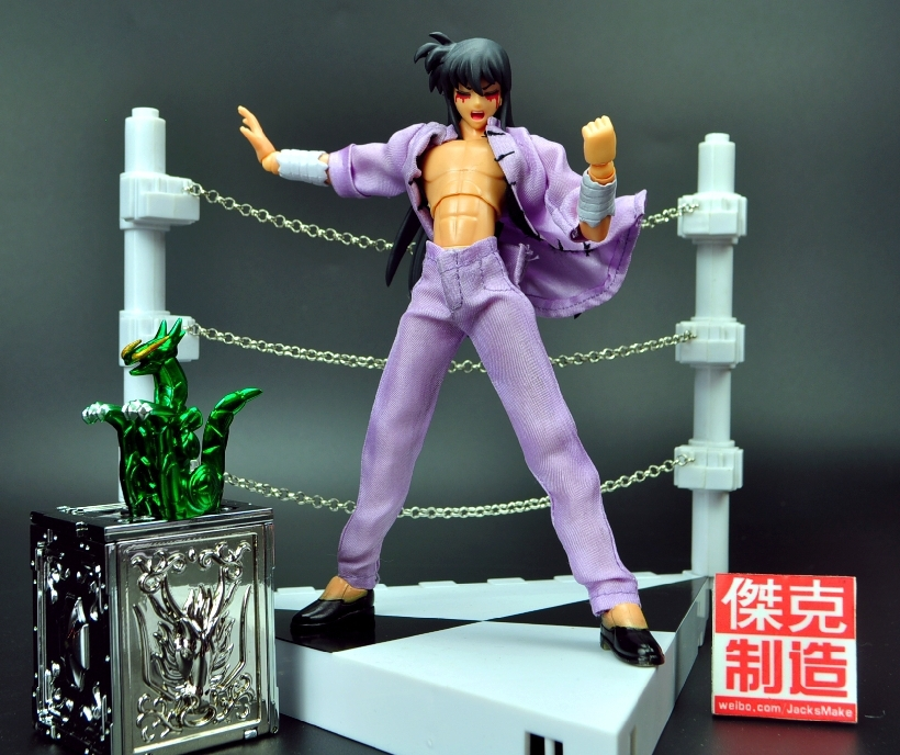 In Stock Jacksdo Saint Seiya Myth Cloth Draco Shiryu Dragon Action figure Toy Model With 1/6 Arena