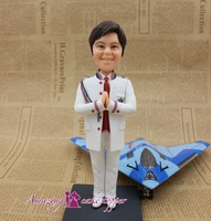 2019 AMAZING CAKE TOPPER Handsome guy who dreams of the blue sky Toys Custom Polymer Clay Figure From Pictures