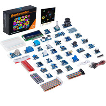 SunFounder Kit de Sensor V2.0 para Raspberry Pi 4B 3B + 3B 2B + RPi 1 Modelo B + Kit de iniciación, 37 Módulos en 1 caja