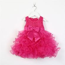 Baby dress new summer girls multi-layerswing cake bow sleeveless childrens clothes
