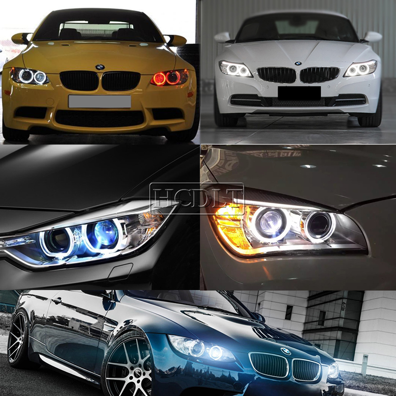 Image 3 - HCDLT Error Free LED Angel Eyes 60W White Yellow Red Blue Car Light For B M W E39 E53 E63 E83 X3 E87 X5 E60 120W LED Marker Kit-in Car Light Accessories from Automobiles & Motorcycles