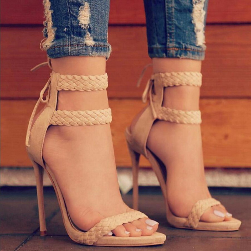 LALA IKAI Ankle Strap Sandals Women (8)