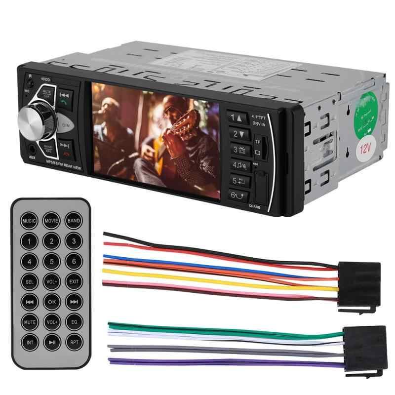 1 Din 4022D FM Radio coche Auto Audio estéreo Bluetooth coche Radios Autoradio Control del volante soporte cámara de visión trasera radios