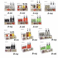 EMS Condiment Set Glass Seasoning Bottles Kitchen Container Seasoning Jar Olive Oil Jars For Spices Salt And Pepper Chilisauce