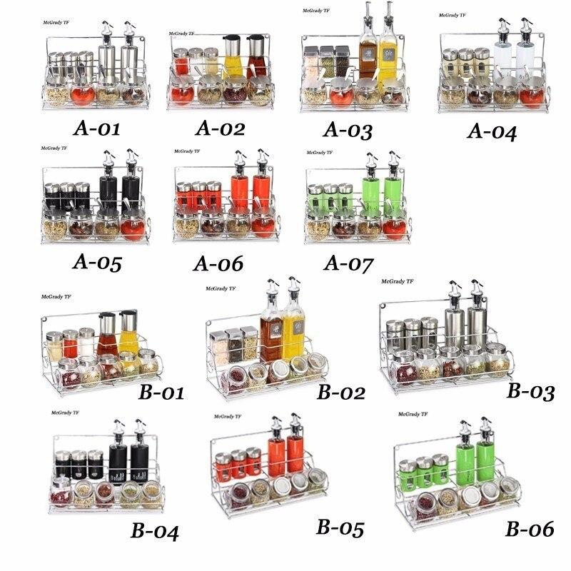 Ensemble de condiments EMS bouteilles d'assaisonnement en verre récipient de cuisine pot d'assaisonnement pots d'huile d'olive pour épices sel et poivre Chilisauce
