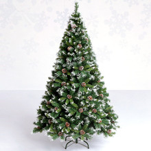 Фотография 2.1 m / 210cm soiled white pine cones snowflake Christmas tree decoration packages Hotel Arcade Bar