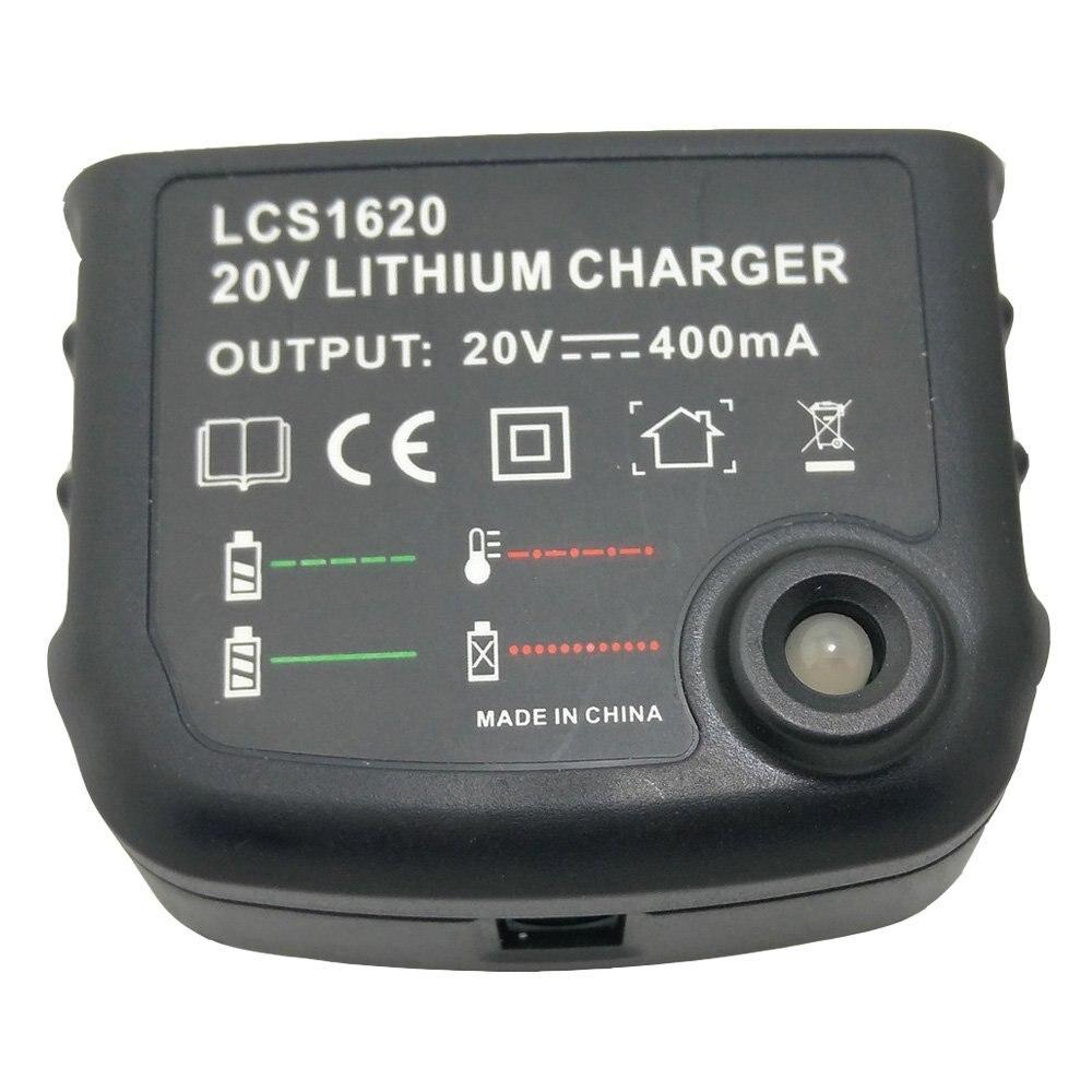 Replacement Charger LCS1620 AC100V--240V For BLACK & DECKER Lithium Power Tools Battery 14.4V 18V 20 Volt LB20 LBX20 LBXR20