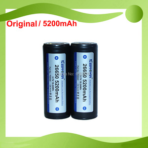 2PCS/LOT Original Keeppower 3.7V 26650 ICR26650 5200mAh Protected Diving Flashlight Battery Suit For CONVOY L6(China)