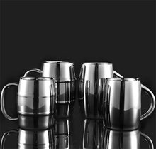 300/400ml Bamboo Barrel Shape Double Walled Stainless Steel Beer Vodka Mugs Cup Tea Coffee Cups Camping Drinkware Travel Tumbler