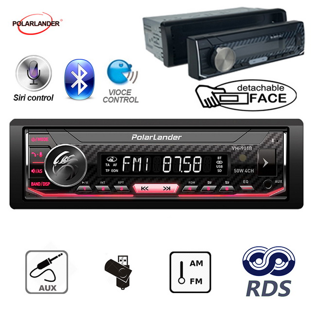 Image 2 - Bluetooth 1 din Support Android 7.0 or Above Car Multimedia Player Autoradio  AM / FM / RDS Radio For Iphone Siri car radio-in Car MP3 Players from Automobiles & Motorcycles