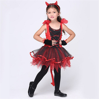 Girl Devil Costumes Halloween Devilina Cosplay Tutu Fancy Dress 3 11 Years Old Girl Costumes
