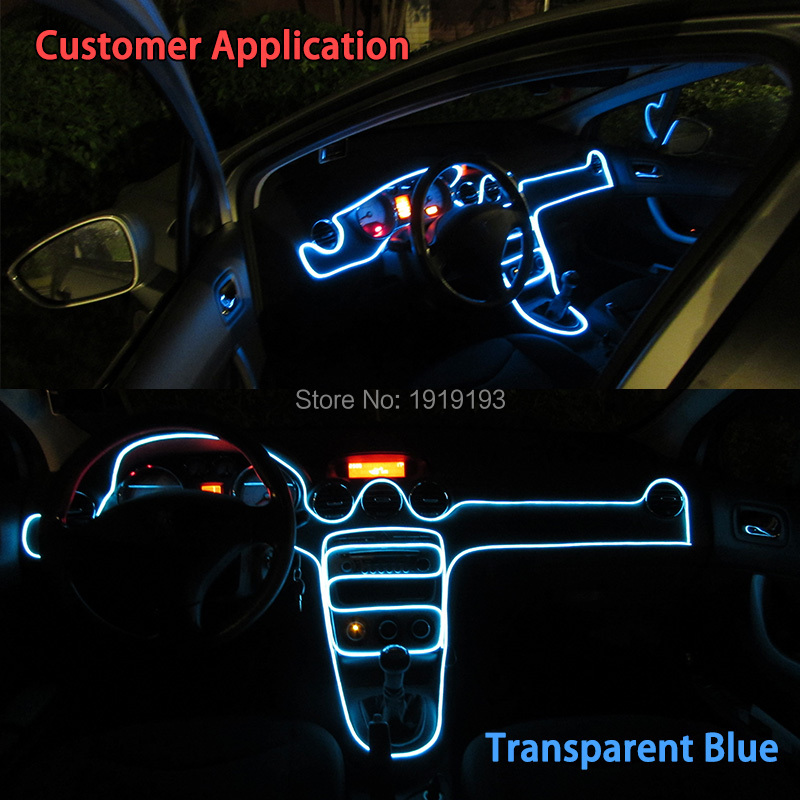Led Per Auto Interni.Us 13 28 5 Off 4meters 2 3mm Skirt El Wire Neon Light Led Strip For Car Internal Motorbike Auto Decoration Dc 12v Sound Active El Driver In Led