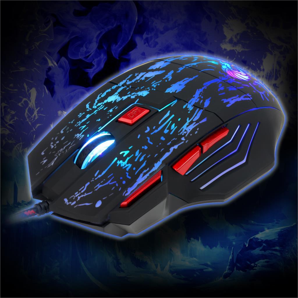 Image 4 - Rocketek usb optical wired gaming mouse 7 key 5500DPI Adjustable 7 color LED lights for Desktop computer/laptop/gamer/Home-in Mice from Computer & Office