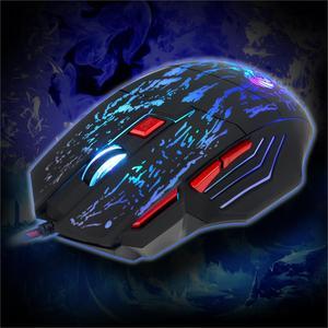 Image 4 - Rocketek usb optical wired gaming mouse 7 key 5500DPI Adjustable 7 color LED lights for Desktop computer/laptop/gamer/Home