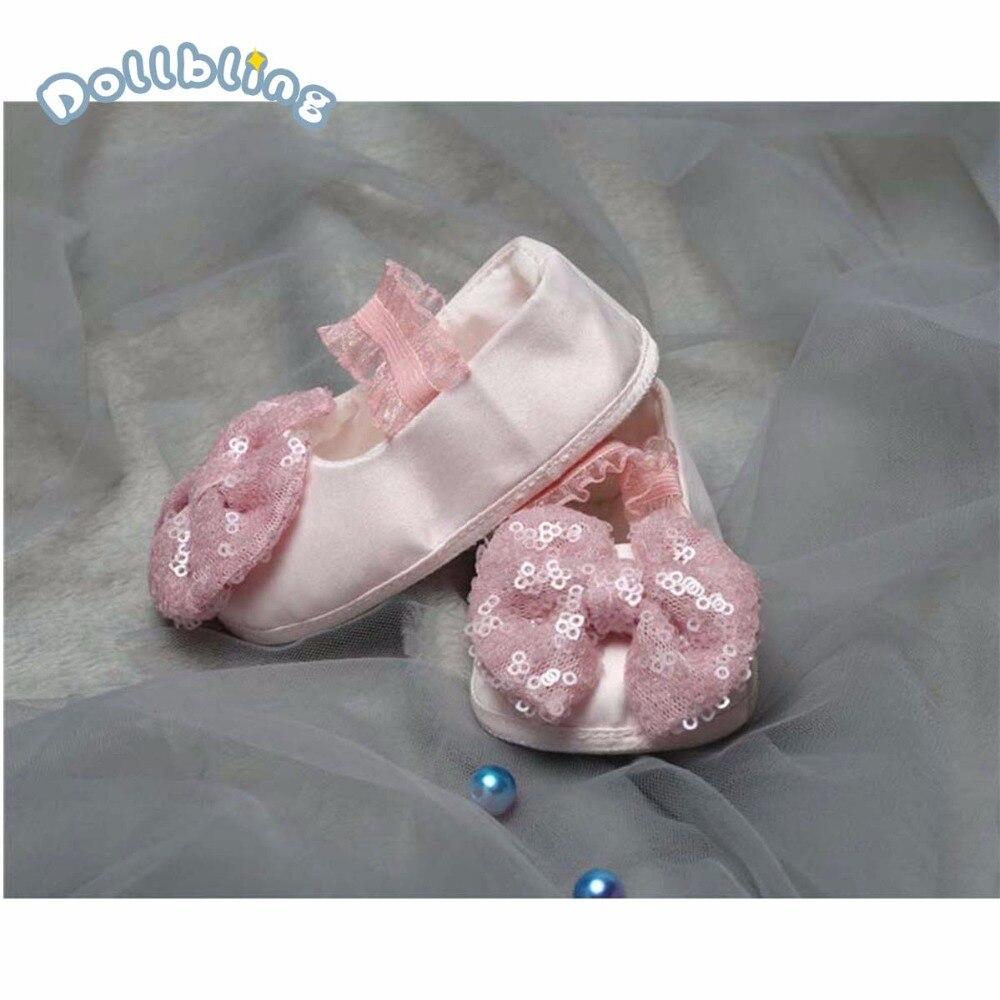 Bébé Chaussures Premiers Marcheurs Nouveau-Né Bébé Mocassins Doux Garçons Filles Semelle Antidérapante Sequin Bowknot Pour Bébé Infantile Première marcheurs Chaussures