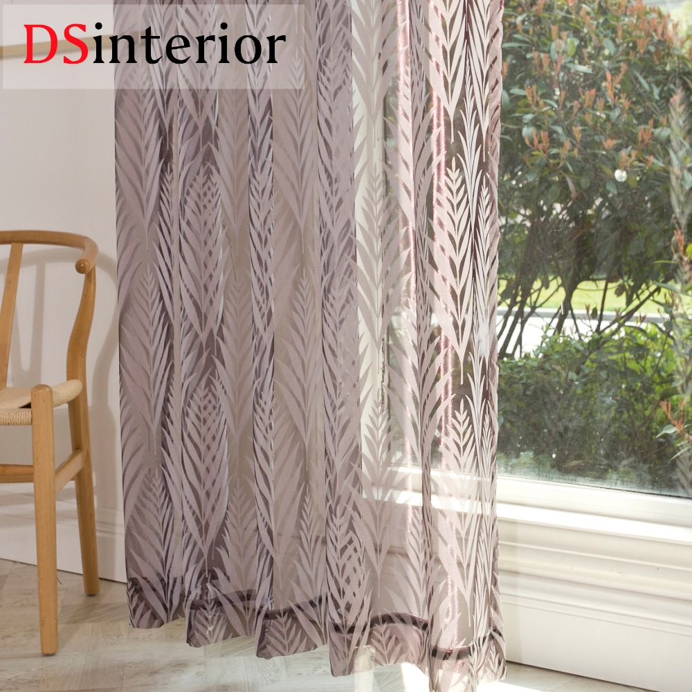 DSinterior modern fashion sheer tulle curtain for bedroom or living room